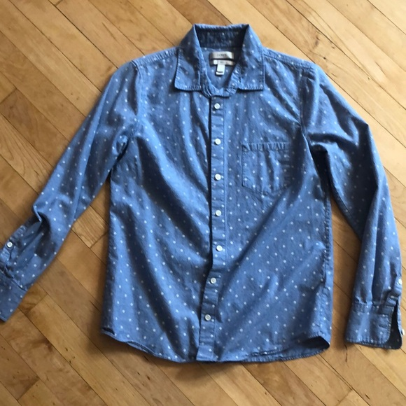 J. Crew Tops - J crew polka dotted button down